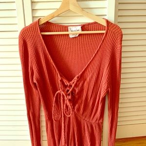 Boutique find! Coral Sadie and Sage knit romper!